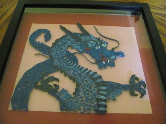 my quilled Blue Dragon  made by Paula Hogue: Quilling 14, Quilling Stuff, Quilling 2, Quilling Inspiration, Quilling Dragons, Crafts Quilling, Quilling Ideas, Quilling Designs, Paper Quilling