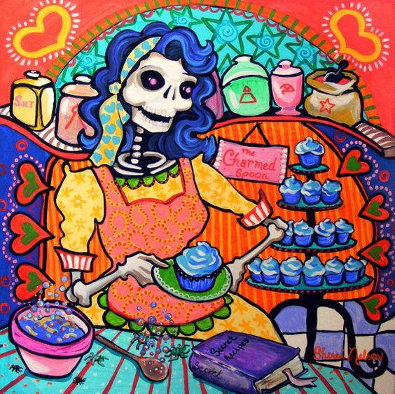 Kitchen Folk Art: Day Of The Dead, Kitchen Art And The Dead On Pinterest