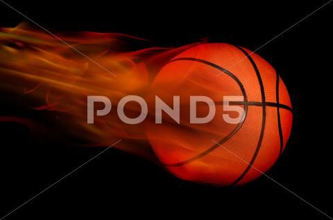 Basketball On Fire Stock Photo Image 43550730 Black Backgrounds Stock Photos Background