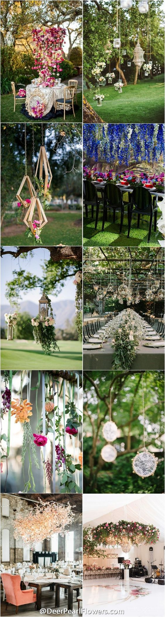 unique wedding ideas - hanging wedding ideas and themes / http://www.deerpearlflowers.com/hanging-wedding-decor-ideas/