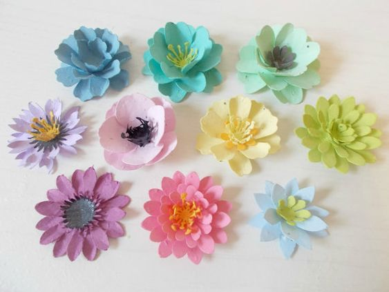 Delightful This Listing Is For A Sample Pack Of 10 Mixed Plantable Paper Flowers. You  Will