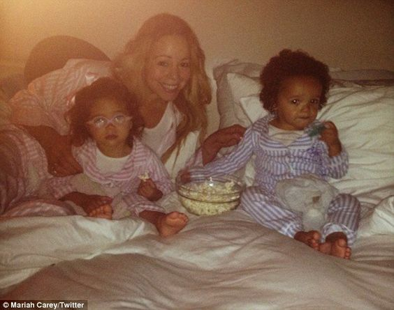 Mariah Carey Twins 2013