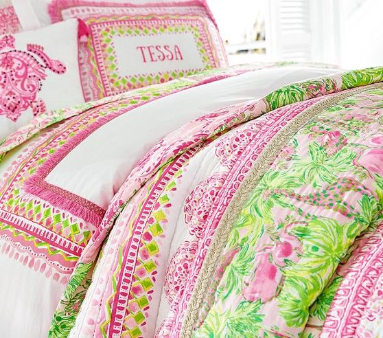 Lilly Pulitzer Parade Party Bedding Look Pottery Barn Kids