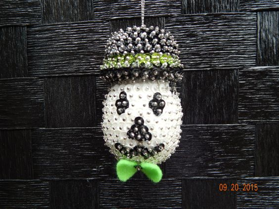 SALE:   Spooktacular Fun Skull Ornament by NanaJansXmasCrafts on Etsy