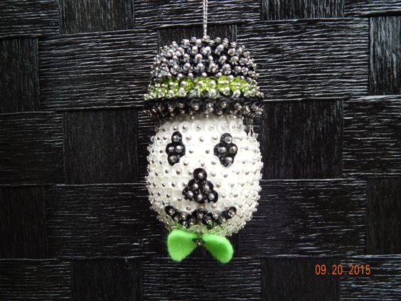 SALE:   Spooktacular Fun Skull Ornament by NanaJansXmasCrafts on Etsy