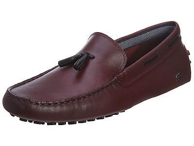 Lacoste Concours Tassle 8 Mens 7-30SRM0003-112 Red Slip On Loafers Shoes Sz 9.5