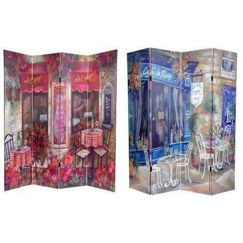 Unique Colorful Decorative Art Print Room Divider, 6-Feet Parisian Café, http://www.amazon.com/dp/B002XG5ER8/ref=cm_sw_r_pi_dp_qoi9rb0XCZ1RX