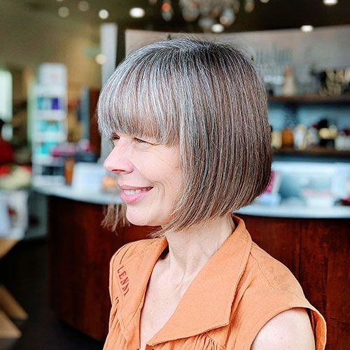 30 Populer Blunt Bob With Bangs 2019 Blunt Bob With Bangs Bob With Bangs Bob Hairstyles