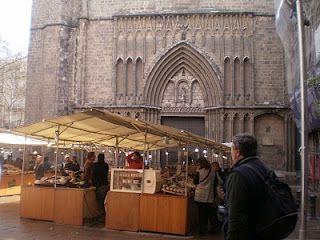 Mercado de rua em Barcelona
