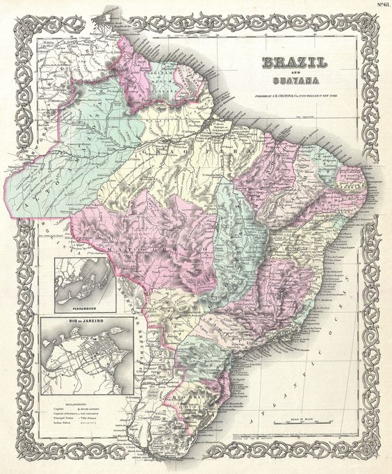 Brasil & Guayana, 1855.