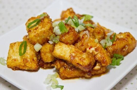 蒜味甜辣黃金豆腐食譜、作法 | 娜塔 Nata的多多開伙食譜分享