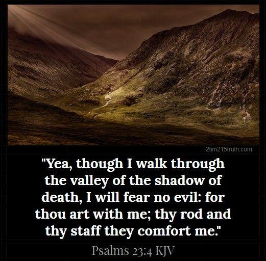 Psalms 23 4 Kjv Bible Words