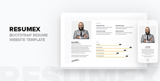 nice ResumeX - Bootstrap Resume Web site Template (Resume \/ CV - resume website template