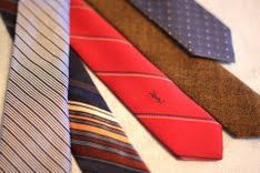 DIY skinny ties for your man (Love the tan one)