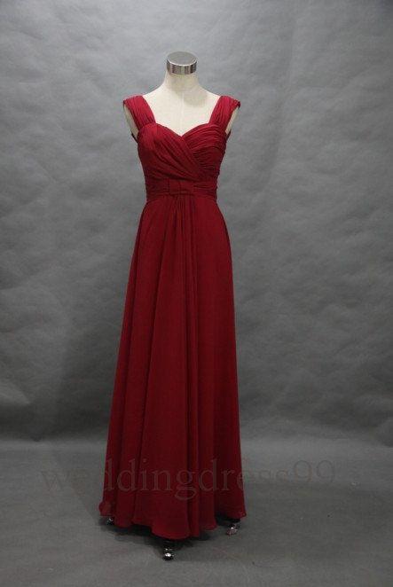 Custom Purplish Red Long Prom Dresses Formal by weddingdress99