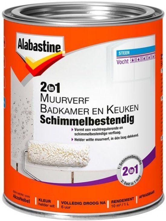 Alabastine 2in1 Badkamer Keukenverf 1l Badkamer Muurverf Badkamer Verven