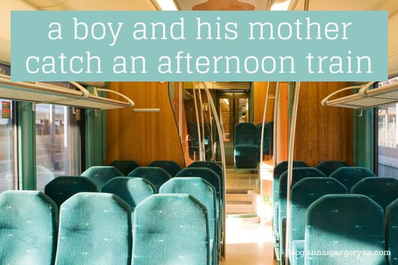 A boy and his mother catch an afternoon train #writing #writingprompt Writing prompts by Anna Spargo-Ryan