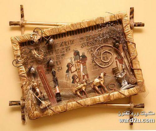 تابلوهات بسيطة من خامات البيئة الطبيعية والمصنعة Collage Artwork Leather Handbags Art