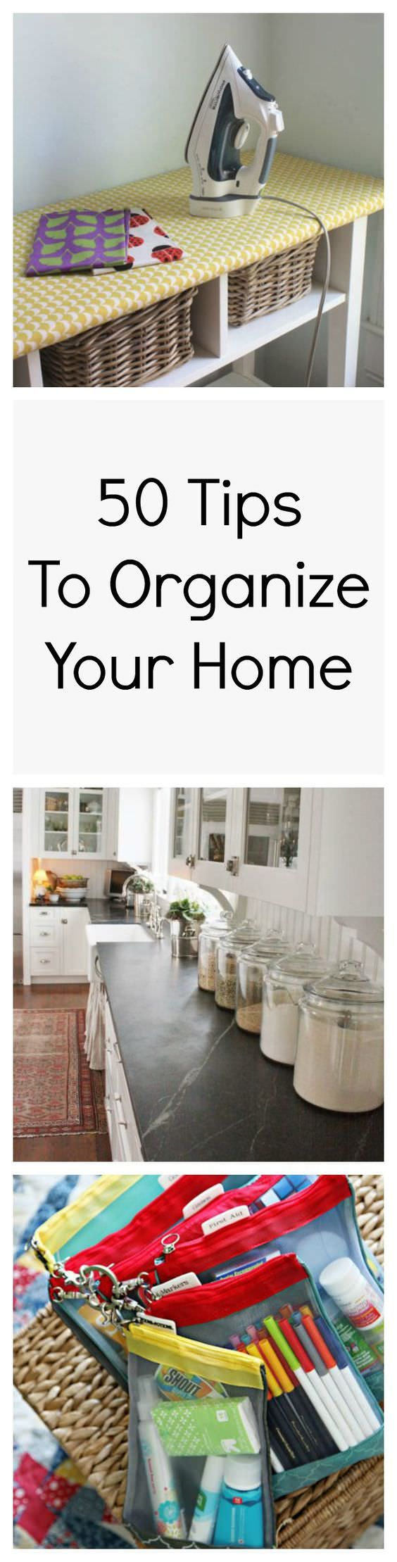 Home organization can be tricky and time-consuming but if you apply these 50…