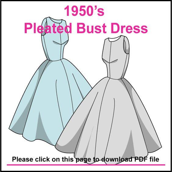 1950's dress free pattern