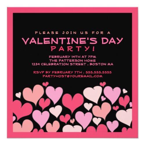 Hearts A Plenty Valentines Day Party Invitation Zazzle Com
