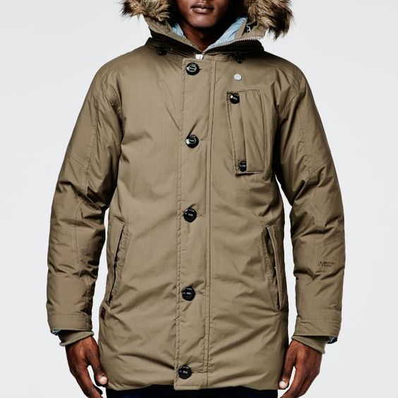 G Star Raw Mountain Hooded Down Parka Men Jackets