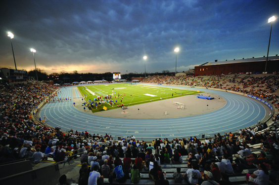 Drake Stadium, Des Moines. Drake Relays are just around the corner!