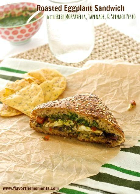 Eggplant sandwich, Tapenade and Eggplants on Pinterest