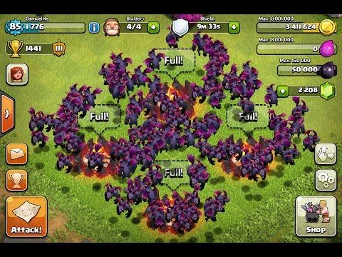 clash of clans max level barbarian king attack