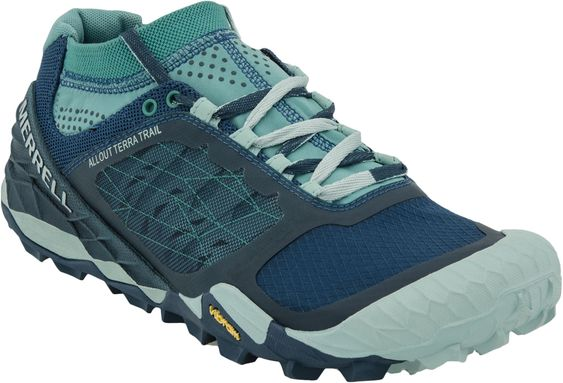 Merrell All Out Terra Trail shoe , Women, Hiking shoes to conquer your mountain, innovative barefoot and minimalist footwear for the runner in you, PlanetShoes.com (Blue/Aqua)