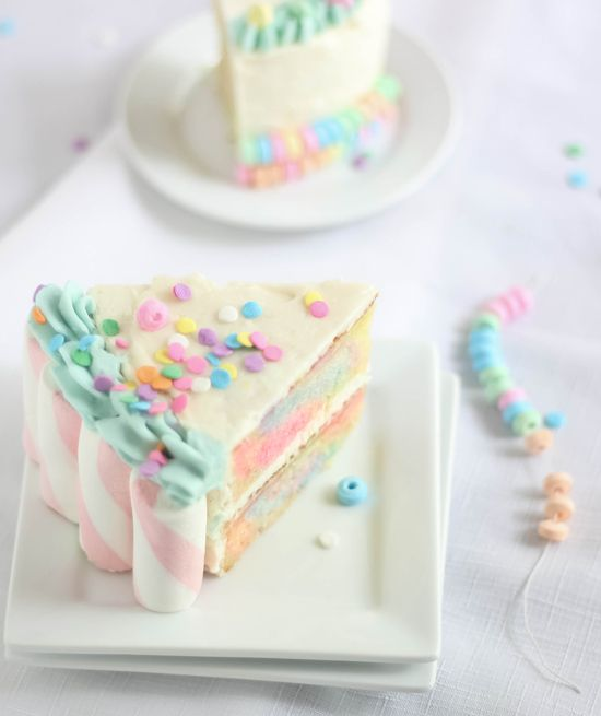 Sprinkle Bakes: Marshmallow-Candy Swirl Cake