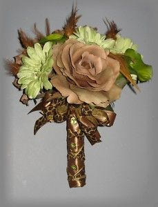 camo wedding plates | Mocha Pistachio Wedding Flowers Jungle Fever Bouquets | eBay
