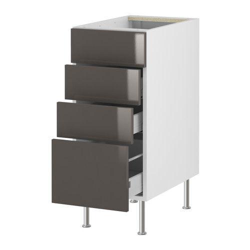 Po ng footstool black brown isunda gray base cabinets for Akurum kitchen cabinets ikea