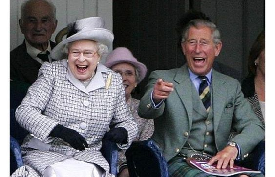 Awesome. Laughter can bust up even the most cultured visage. I really want to know what they're laughing at.