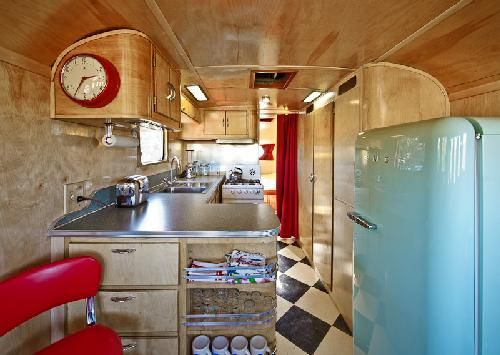 I Love That People Are Taking Old Campers And Spiffing Up A Bit Like This Its So Cool Would Project