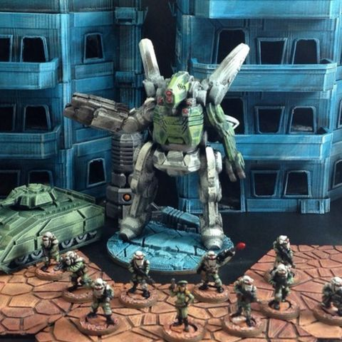 Download on https://cults3d.com #3Dprinting #Impression3D Hyperion Heavy Assault Mech (15mm scale) 3D model, Dutchmogul