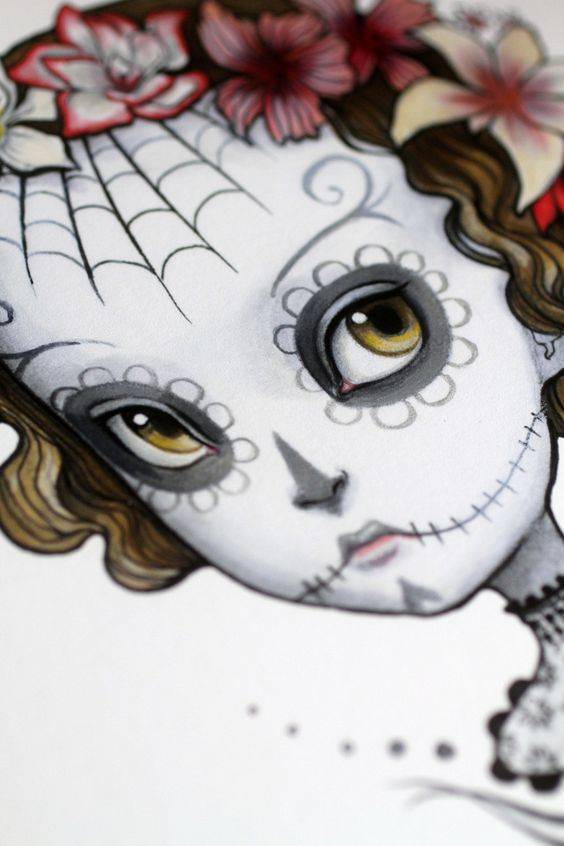 Dia de los Muertos - Adonica - 8x10 Limited Edition Signed Art Print - by Mab Graves via Etsy.