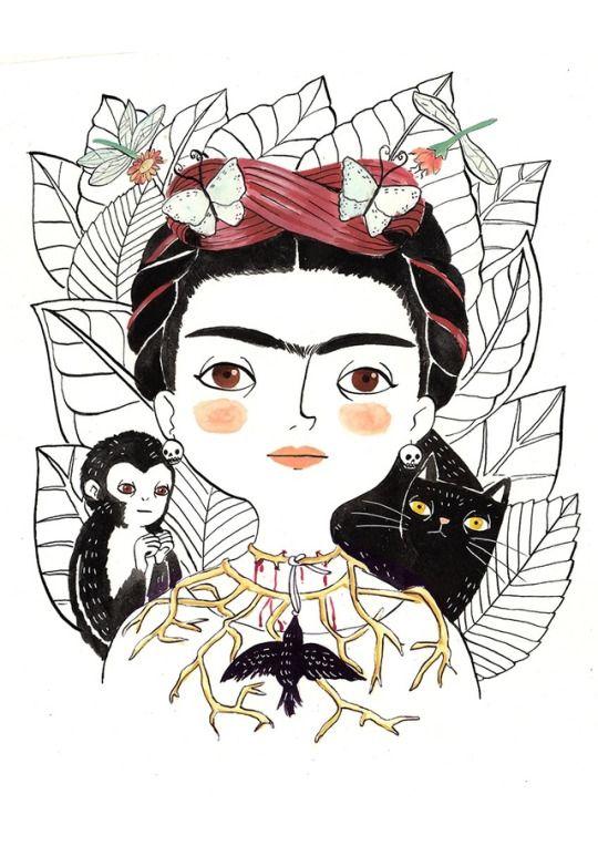 La ilustradora española María Hesse es la autora de estas preciosas ilustraciones de personajes del mundo del arte, el cine, la música y la televisión.