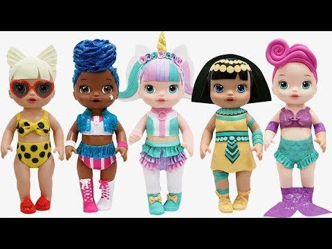 Play Doh New Lol Surprise Doll Series 3 Outfits Unicorn Pharaoh Babe Waves Baby Alive Doll Youtube Baby Alive Baby Alive Dolls Doll Party