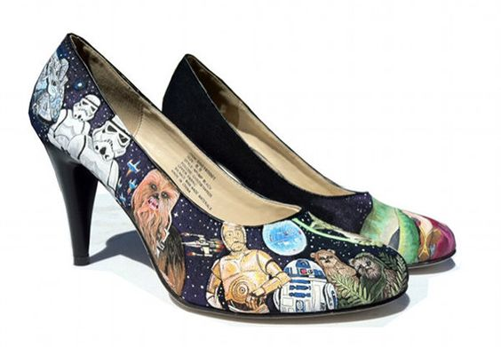 Star Wars painted heels. Mind = blown.