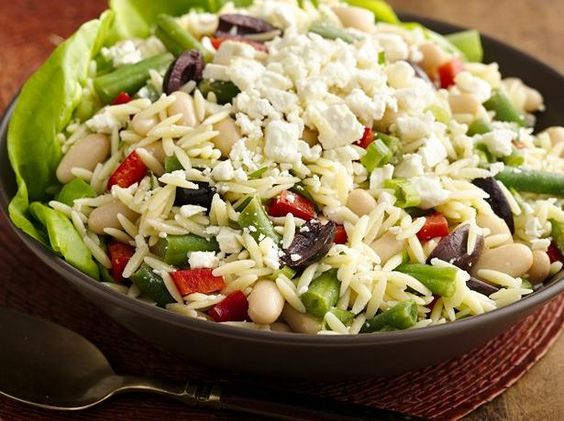 Lemony Orzo Two Bean Salad. Green Giant® green beans pair with Progresso® cannellini beans in this refreshing pasta salad.