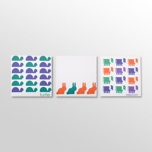 Find it at the Foundary - Bold Animal Party Canvas Print - Set of 3