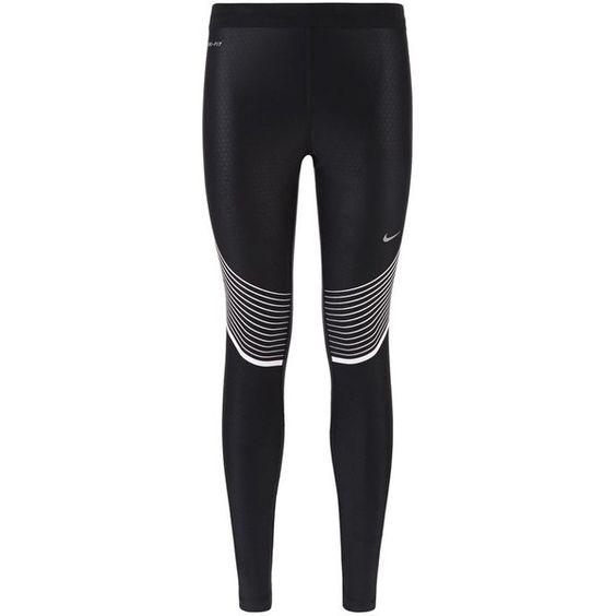 Nike Power Speed Leggings (£105) ❤ liked on Polyvore featuring activewear, activewear pants, pants, sports, bottoms, nike, nike activewear, nike activewear pants and nike sportswear