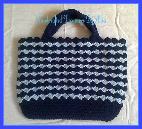 Crochet handbag Prada inspired handbag crochet by CraftinginStyle