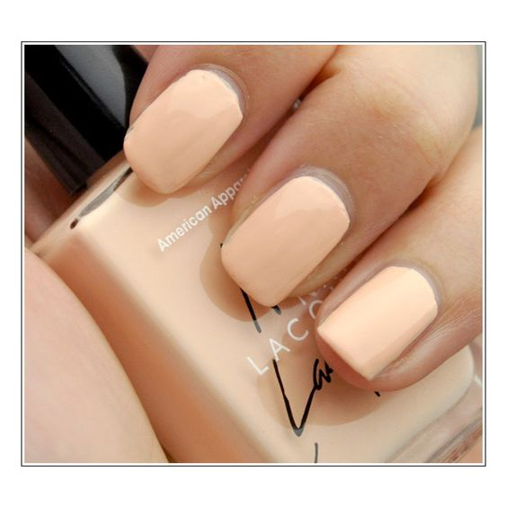 American Apparel Nail Polish Review, Photos, Swatches (Summer Peach,... ❤ liked on Polyvore featuring beauty products, nail care, nail polish, nails, makeup, beauty, pictures, american apparel and american apparel nail polish