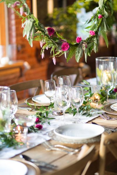 Dreamy table: http://www.stylemepretty.com/new-york-weddings/new-york-city/manhattan/lower-east-side/2015/04/24/enchanted-garden-engagement-party-inspiration/ | Photography: Orange Blossom - http://www.orangeblossomphoto.com/