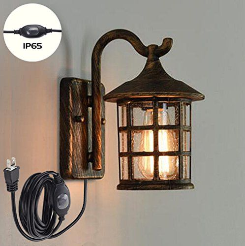 Kiven Antique Bronze Wall Lamp Retro Ancient Steampunk Vintage Wall Porch Lights For Garden Front Porch Outdoo Wall Lamp Wall Lights Indoor Wall Light Fixtures