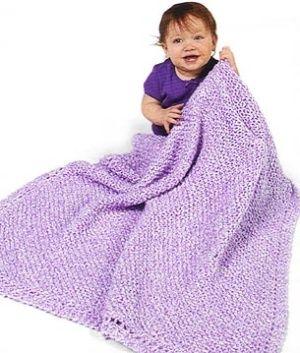 Diagonal Pattern Baby Blanket