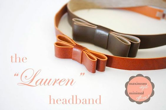 The Lauren headband. @Rachel Garza we should do this one too! It would look great with your new 'do!