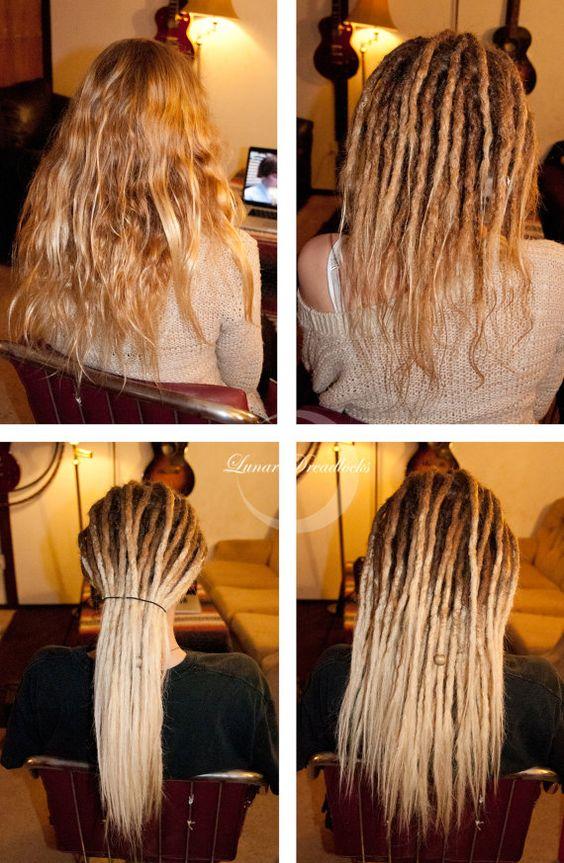 Dreadlock Extensions  24  Human Hair Custom by LunarDreadlocks, $491.10